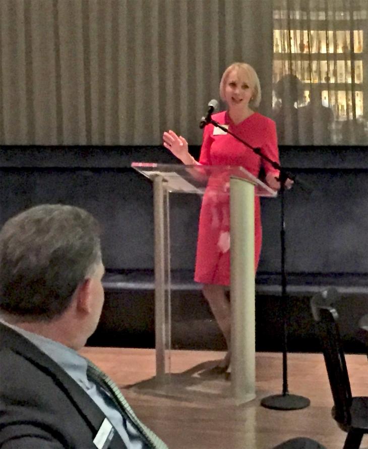 Lidija Nikolic, Senior Vice President at Bank of America Merrill Lynch discusses succession plans at the Bank of America hosted event at the Brooklyn Museum of Art