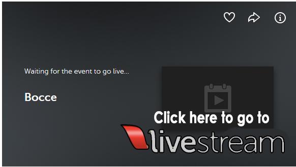 Livestream Bocce button