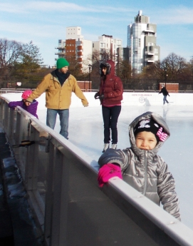 McCarren Rink Dec 2014 Girl in silver