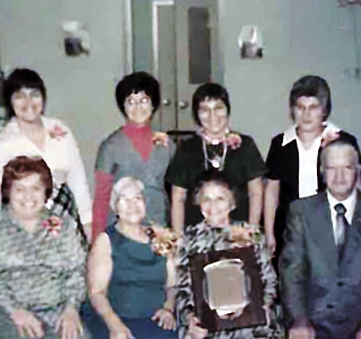 Some of the Conselyea Street Block Association founders (back row, l to r): Toni Speranza, Margaret LaPolla, Tillie Tarantino, and Millie LaCioppa; (front row , l to r): Elizabeth Speranza, Molly Manna, Agnes Grappone, and Former CSBA Board Member Frank Creta.